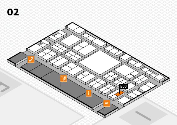 EuroShop 2017 hall map (Hall 2): stand B06