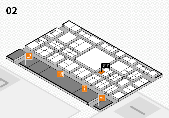 EuroShop 2017 hall map (Hall 2): stand B17