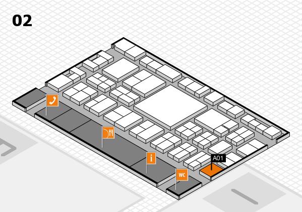 EuroShop 2017 hall map (Hall 2): stand A01