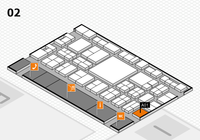 EuroShop 2017 hall map (Hall 2): stand A01