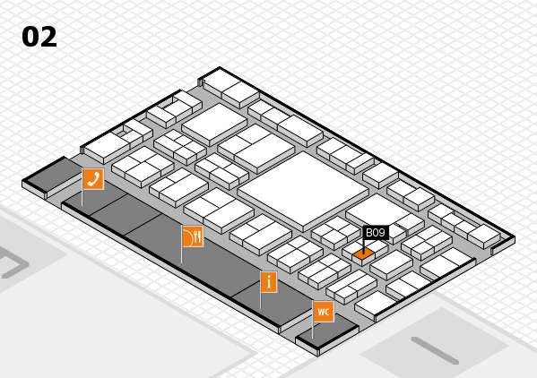 EuroShop 2017 hall map (Hall 2): stand B09