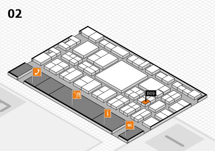 EuroShop 2017 hall map (Hall 2): stand B09