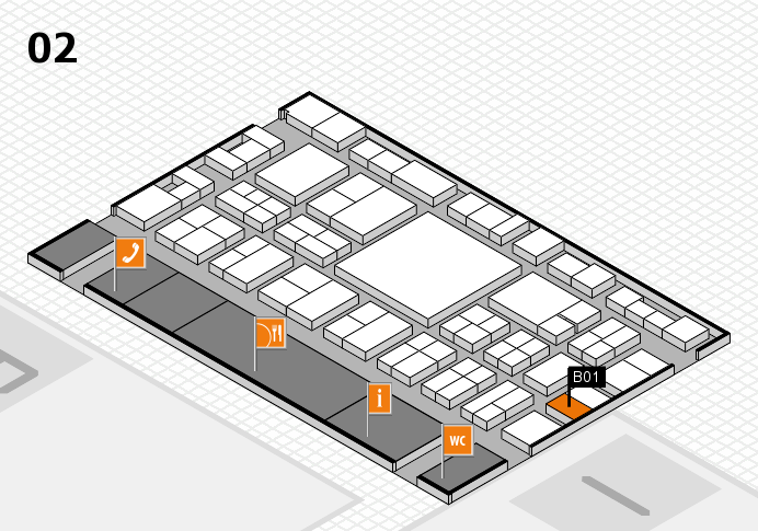 EuroShop 2017 hall map (Hall 2): stand B01