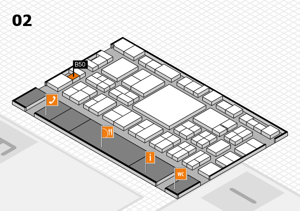 EuroShop 2017 hall map (Hall 2): stand B50