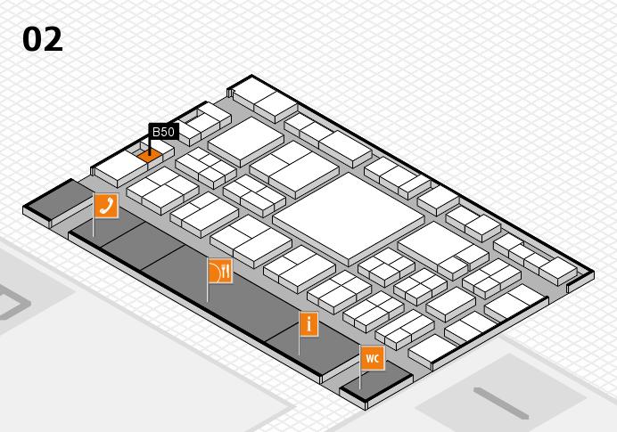 EuroShop 2017 hall map (Hall 2): stand B50