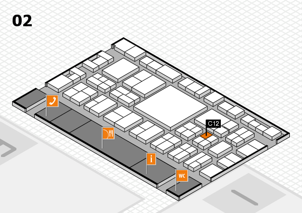 EuroShop 2017 hall map (Hall 2): stand C12