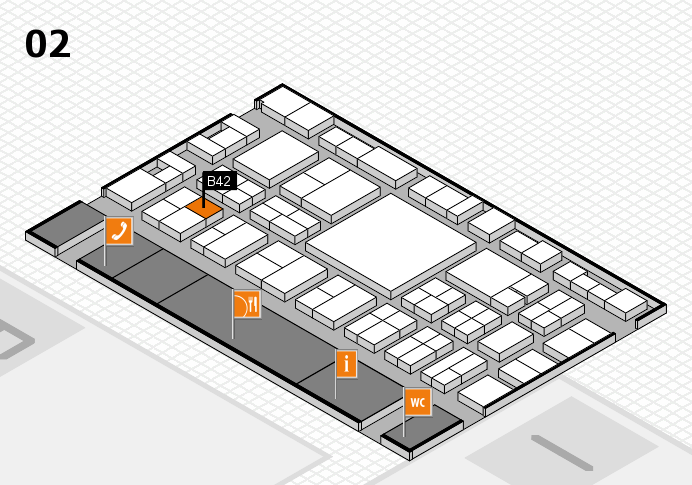EuroShop 2017 hall map (Hall 2): stand B42