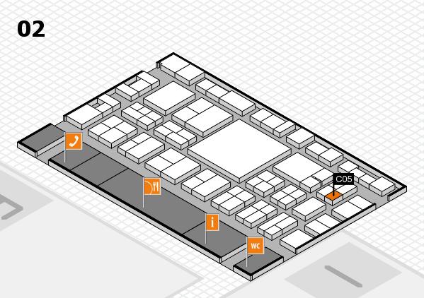 EuroShop 2017 hall map (Hall 2): stand C05