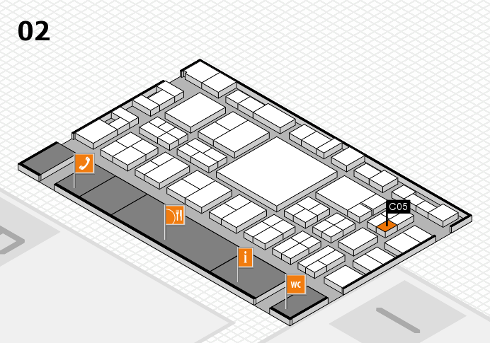EuroShop 2017 hall map (Hall 2): stand C05