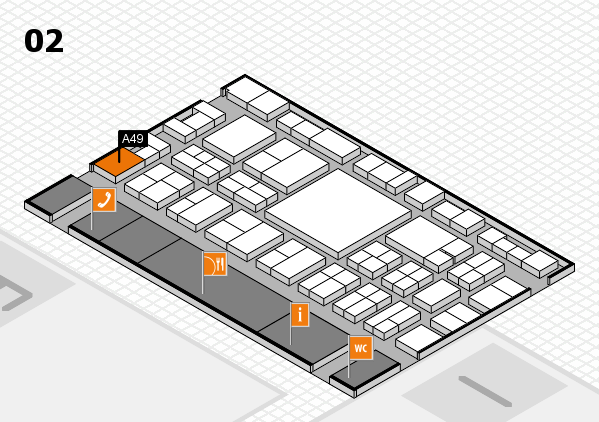 EuroShop 2017 hall map (Hall 2): stand A49