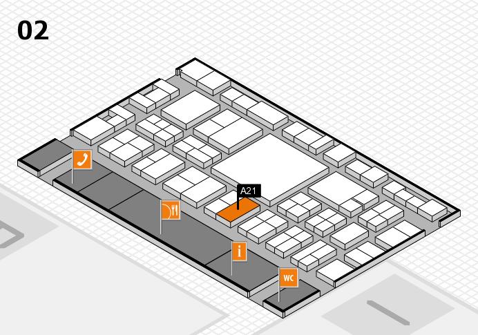 EuroShop 2017 hall map (Hall 2): stand A21