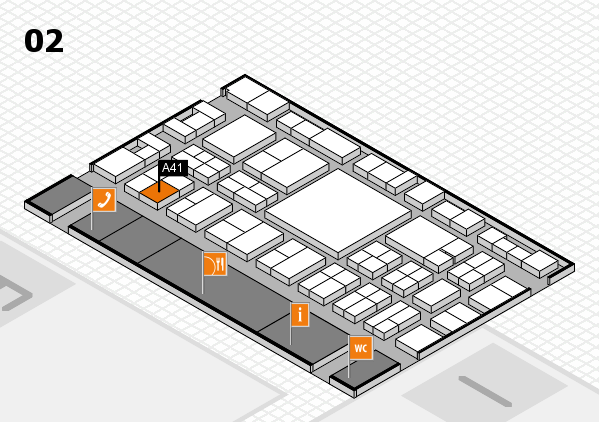 EuroShop 2017 Hallenplan (Halle 2): Stand A41