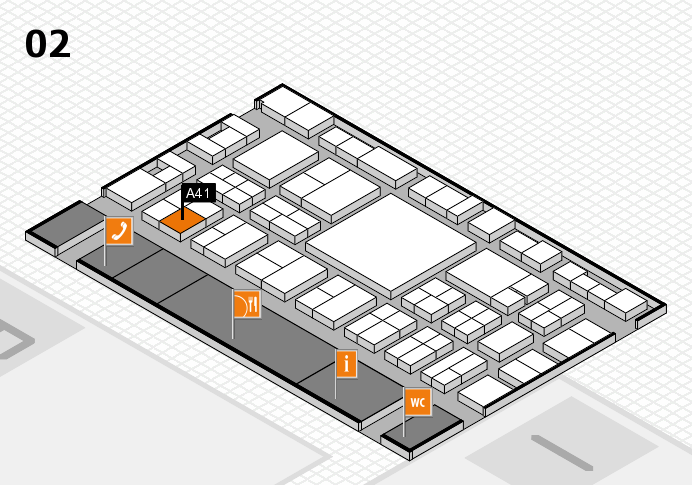 EuroShop 2017 hall map (Hall 2): stand A41