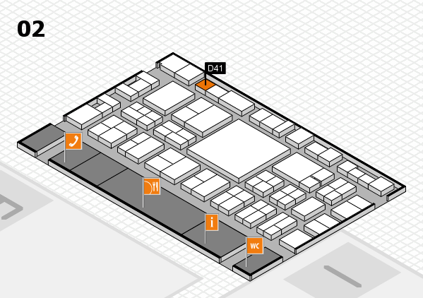 EuroShop 2017 hall map (Hall 2): stand D41