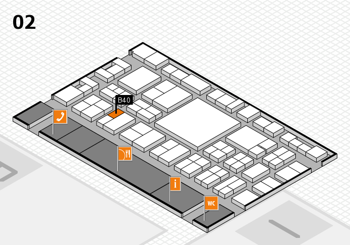 EuroShop 2017 hall map (Hall 2): stand B40
