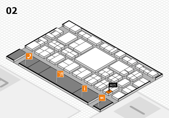 EuroShop 2017 hall map (Hall 2): stand A05