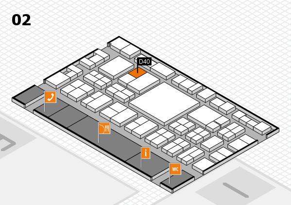 EuroShop 2017 hall map (Hall 2): stand D40