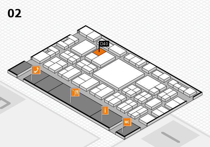 EuroShop 2017 hall map (Hall 2): stand D40