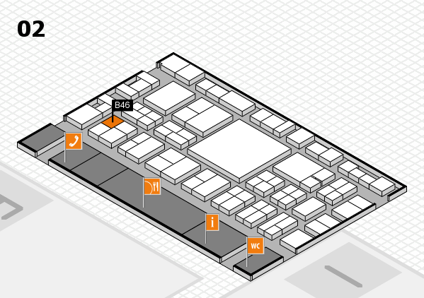 EuroShop 2017 hall map (Hall 2): stand B46