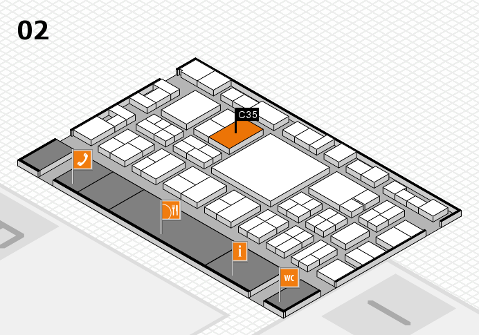 EuroShop 2017 hall map (Hall 2): stand C35