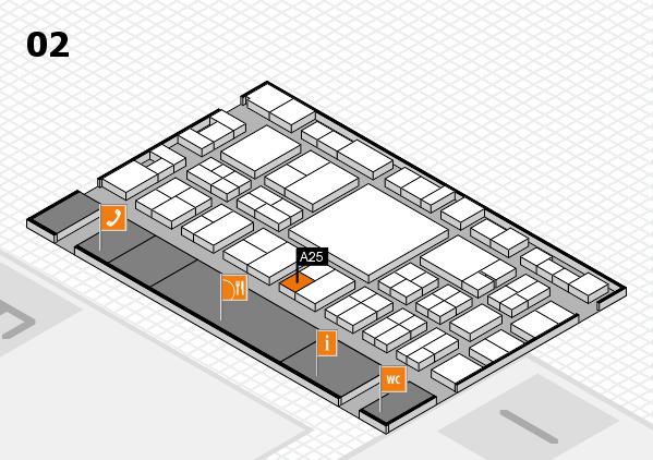 EuroShop 2017 Hallenplan (Halle 2): Stand A25