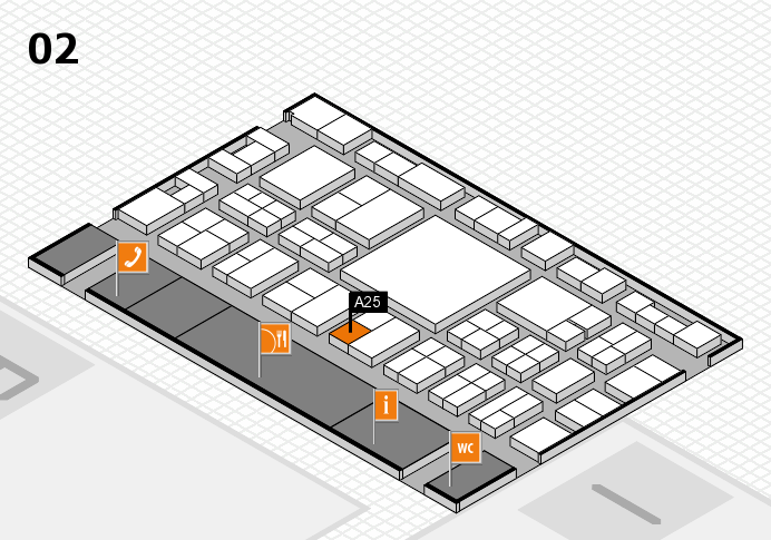EuroShop 2017 hall map (Hall 2): stand A25