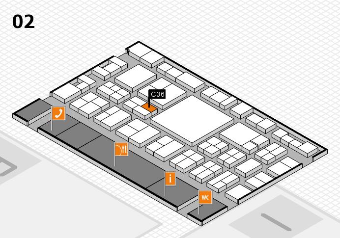EuroShop 2017 hall map (Hall 2): stand C36