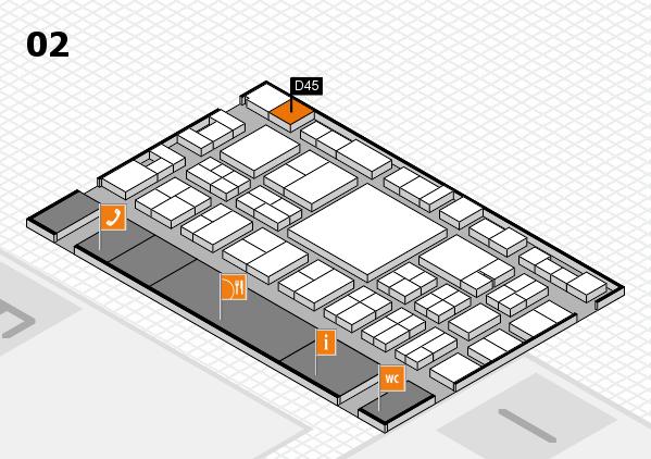 EuroShop 2017 hall map (Hall 2): stand D45