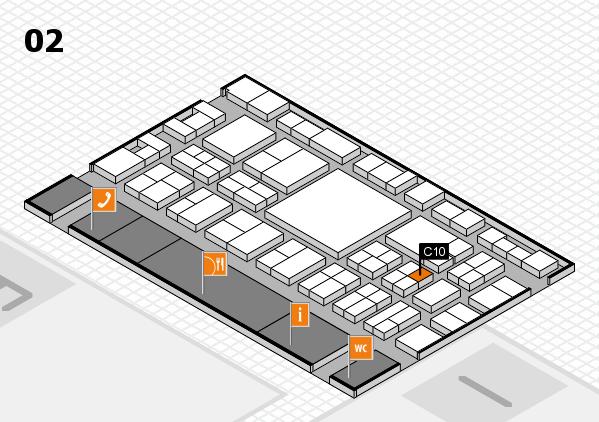 EuroShop 2017 hall map (Hall 2): stand C10