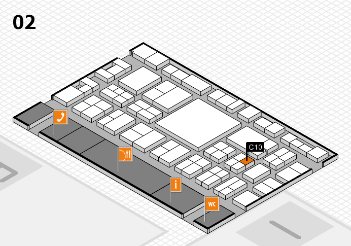 EuroShop 2017 hall map (Hall 2): stand C10