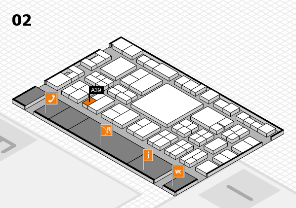 EuroShop 2017 hall map (Hall 2): stand A39