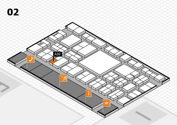 EuroShop 2017 hall map (Hall 2): stand A39