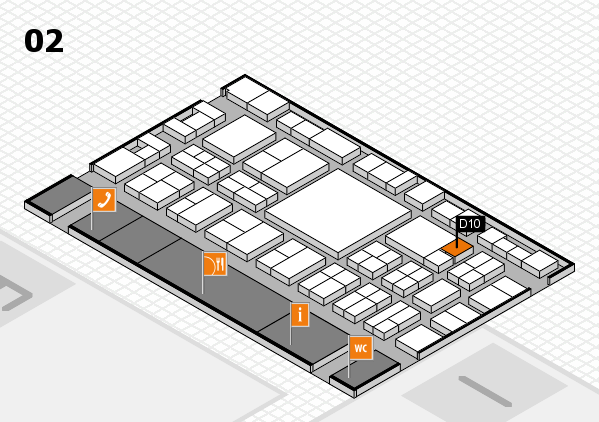 EuroShop 2017 hall map (Hall 2): stand D10