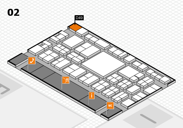 EuroShop 2017 hall map (Hall 2): stand D49