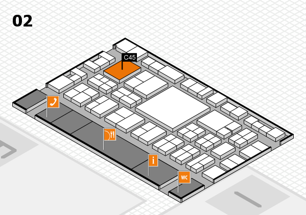 EuroShop 2017 hall map (Hall 2): stand C45