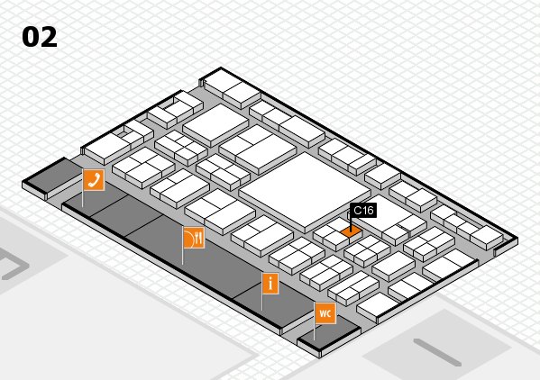 EuroShop 2017 hall map (Hall 2): stand C16