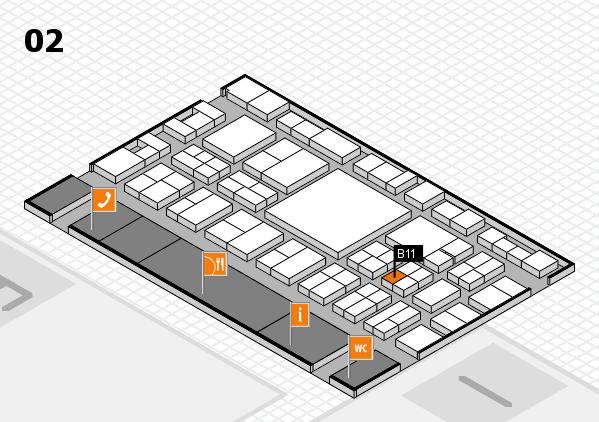 EuroShop 2017 hall map (Hall 2): stand B11