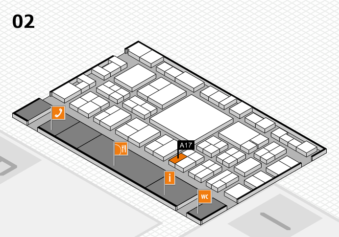 EuroShop 2017 hall map (Hall 2): stand A17