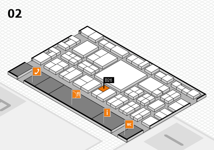EuroShop 2017 hall map (Hall 2): stand B26