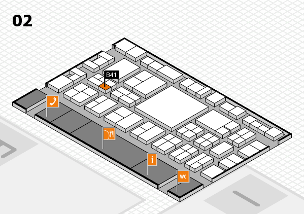 EuroShop 2017 hall map (Hall 2): stand B41