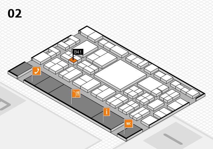 EuroShop 2017 hall map (Hall 2): stand B41