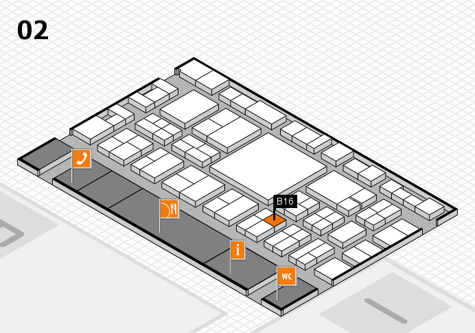 EuroShop 2017 hall map (Hall 2): stand B16