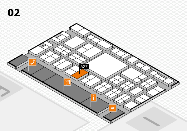 EuroShop 2017 hall map (Hall 2): stand A27