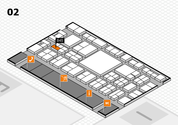 EuroShop 2017 hall map (Hall 2): stand B45
