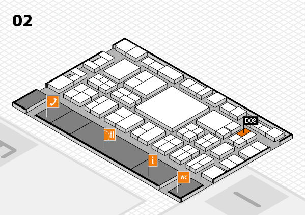 EuroShop 2017 hall map (Hall 2): stand D08
