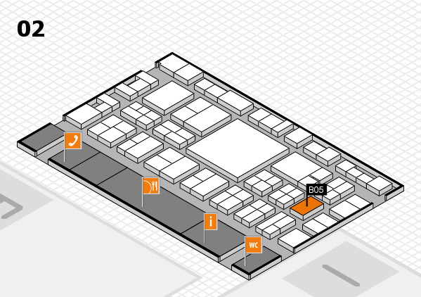 EuroShop 2017 hall map (Hall 2): stand B05