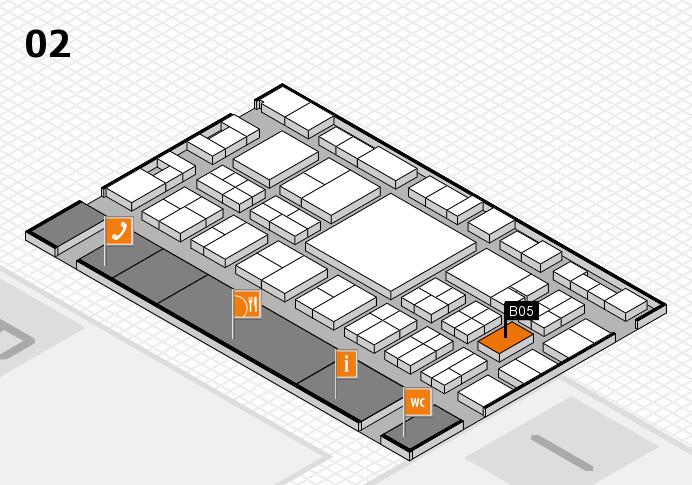 EuroShop 2017 hall map (Hall 2): stand B05