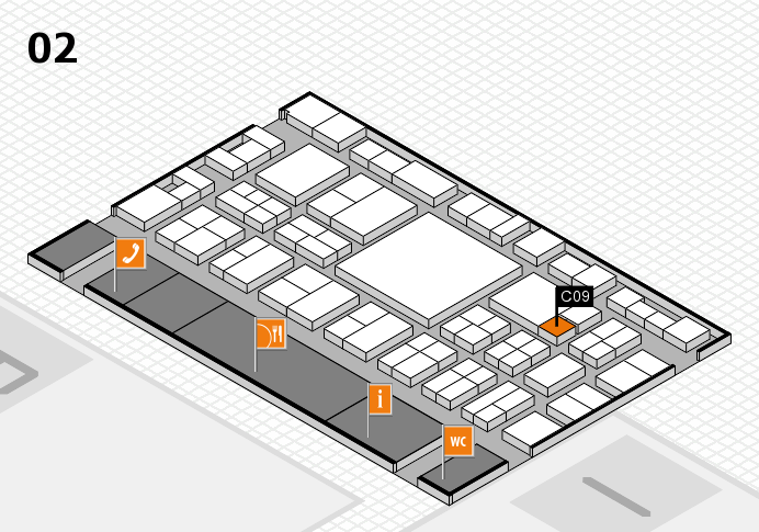 EuroShop 2017 hall map (Hall 2): stand C09