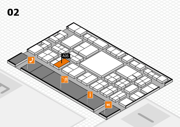 EuroShop 2017 hall map (Hall 2): stand A35