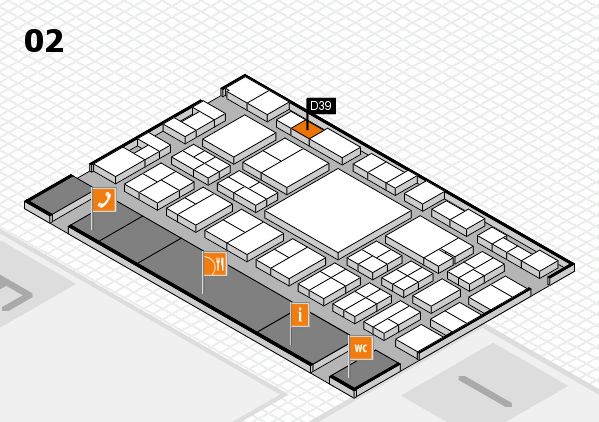 EuroShop 2017 hall map (Hall 2): stand D39